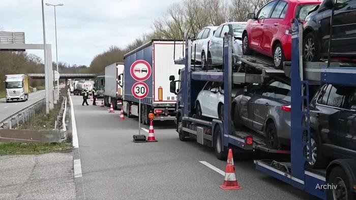 Video: Kreise: Deutschlands Grenzen ab Montag teilweise dicht