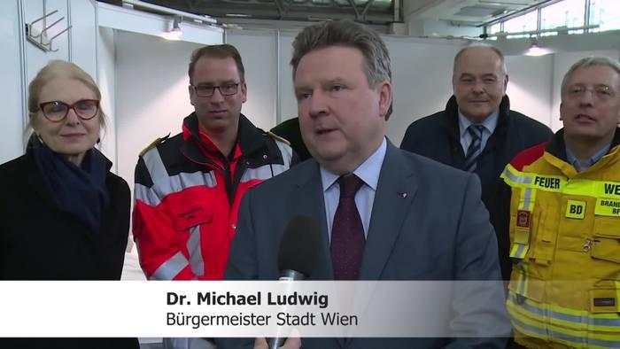 News video: Wien rüstet Messe zur Corona - Betreuungseinrichtung um!