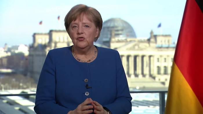 News video: Bundeskanzlerin Angela Merkel mit einer emotionalen Rede an die Nation!