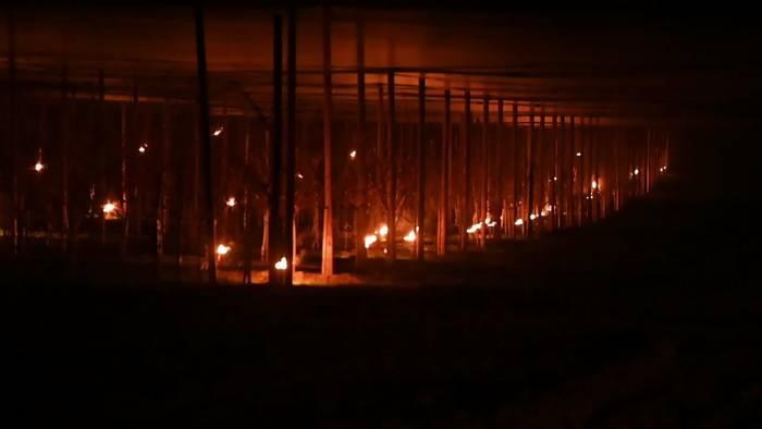 News video: Obstbauern kämpfen mit Feuer und Eis gegen Frost