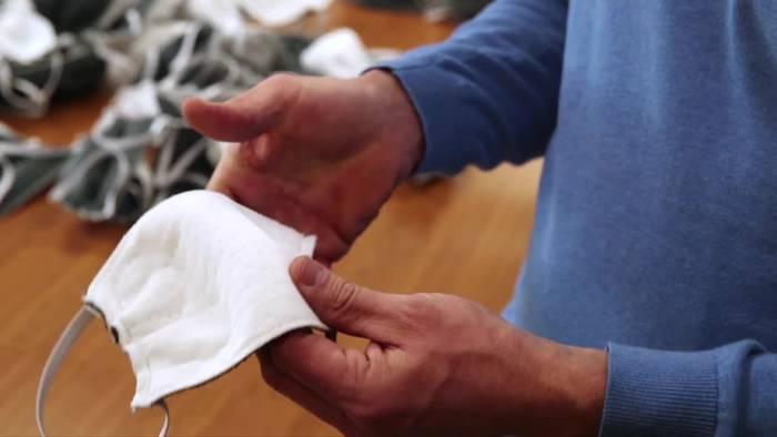 News video: Matratzenhersteller stellt Mundschutzmasken her