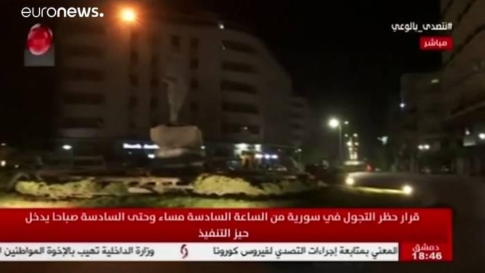News video: Nächtliche Ausgangssperre in Syrien - WHO beginnt Tests in Idlib