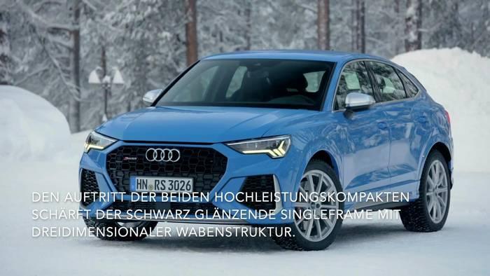 Video: Der neue Audi RS Q3 und der neue Audi RS Q3 Sportback - das Exterieur