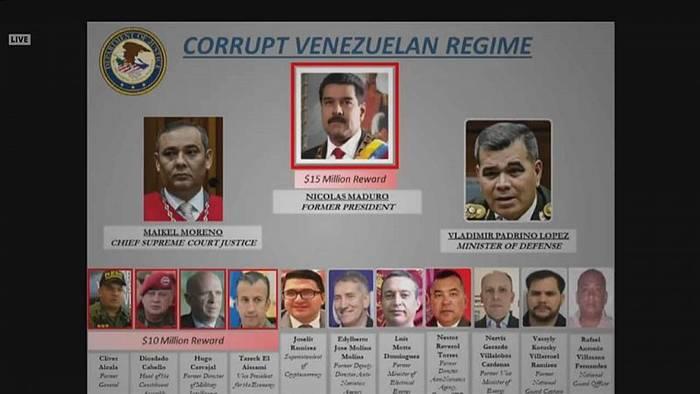 News video: 15 Millionen Dollar: USA setzen Kopfgeld auf Maduro aus