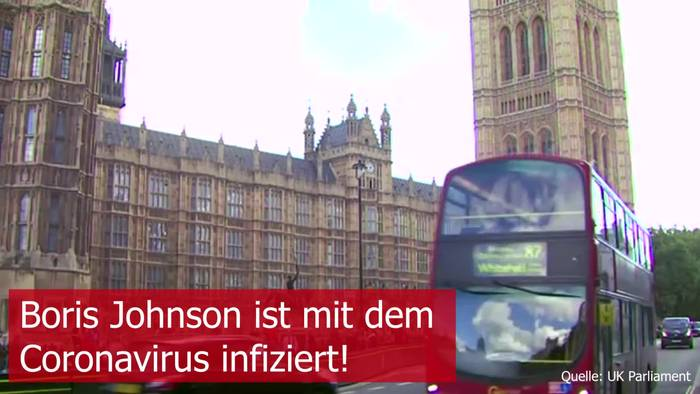 Video: UK-Schock: Boris Johnson ist mit dem Coronavirus infiziert!