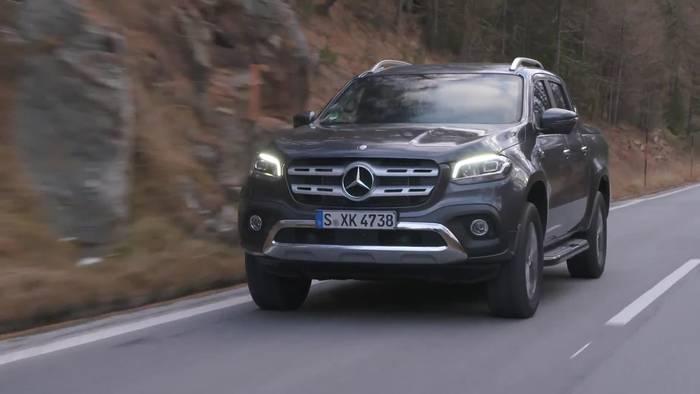 News video: Die Mercedes-Benz X-Klasse mit Sechszylindermotor und permanentem Allradantrieb