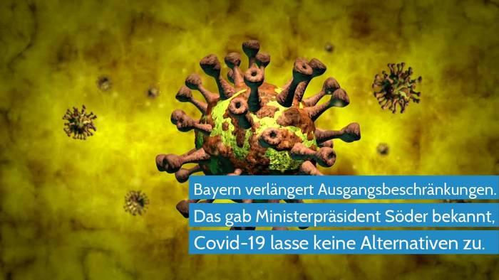 News video: Coronavirus - Bayern verlängert Ausgangsbeschränkungen
