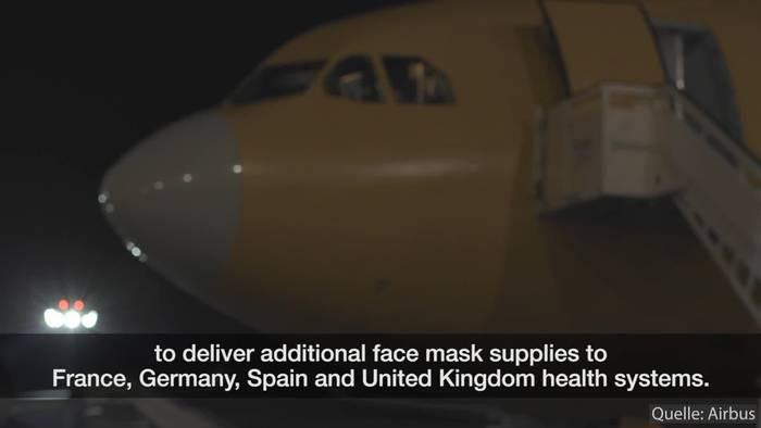 News video: Airbus stellt Luftbrücke für Schutzmaterial zwischen China und Europa