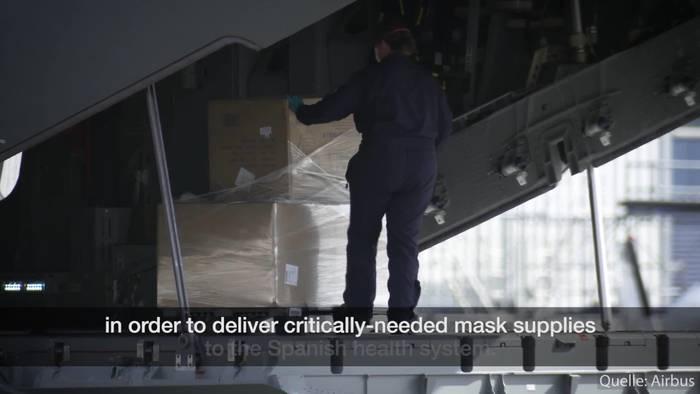 News video: Schutzmasken-Luftbrücke nach Spanien!