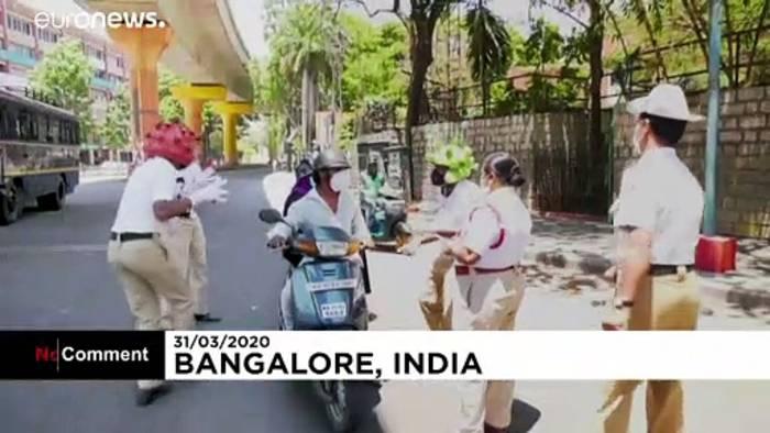 News video: Indien: Polizei warnt mit Coronavirus-Tanz