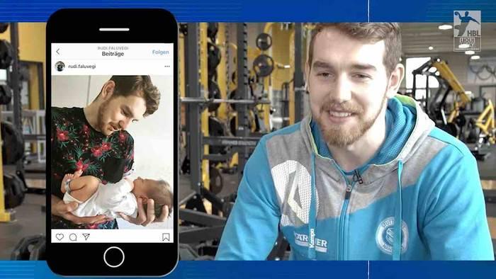 News video: Instacheck mit Rudi Faluvegi: Der Stuttgarter Handball-Star zeigt sein Familienglück