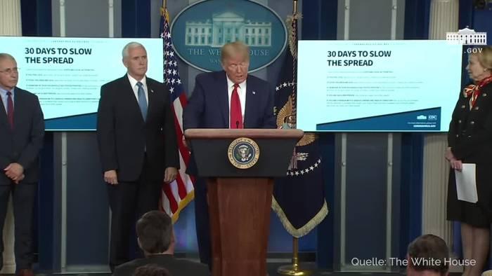 News video: Trump fordert Zusammenhalt: Greifen Virus an jeder Front an