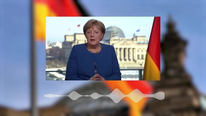 News video: Bundeskanzlerin Merkel: Kontaktbeschränkungen dürfen nicht zu früh aufgehoben werden!