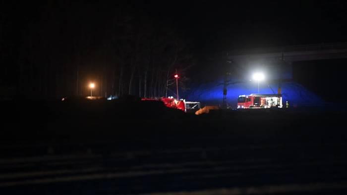 News video: Güterzug-Unfall auf Rheintalstrecke südlich von Freiburg