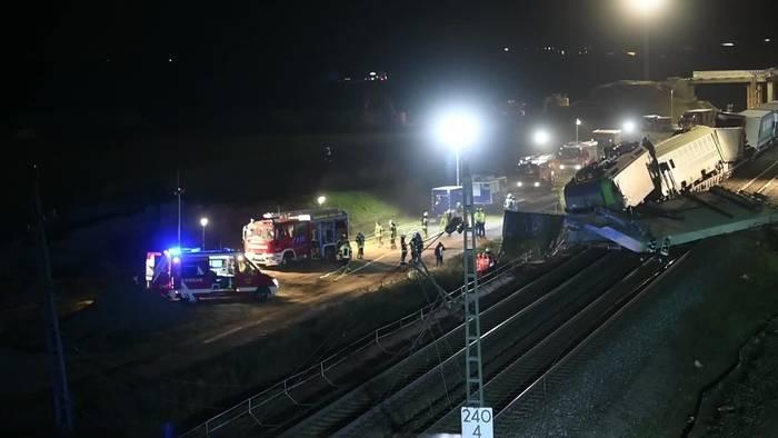 News video: Güterzug-Unfall in Auggen: Landeskriminalamt ermittelt
