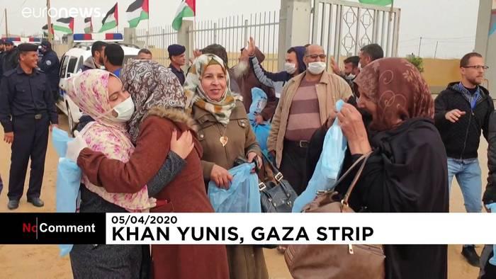 News video: Palästinenser freuen sich über Ende ihrer Quarantäne