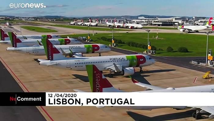 Video: Flugverbot in Lissabon über Ostern