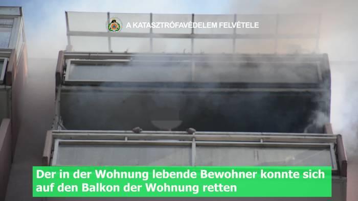 Video: Feuerwehrcam: Löschangriff Wohnungsbrand und Rettung über die Drehleiter