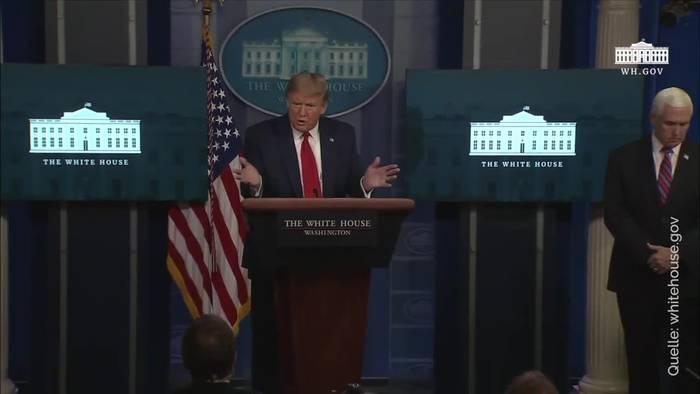 News video: Trump reklamiert in Corona-Krise absolute Entscheidungsmacht