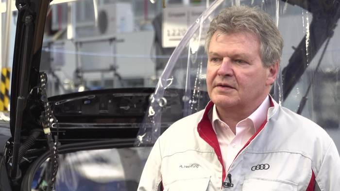 News video: Audi Maßnahmen für die Wiederaufnahme der Produktion Achim Heinfling