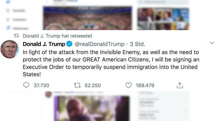 News video: Trump will Einwanderung in die USA zeitweise aussetzen