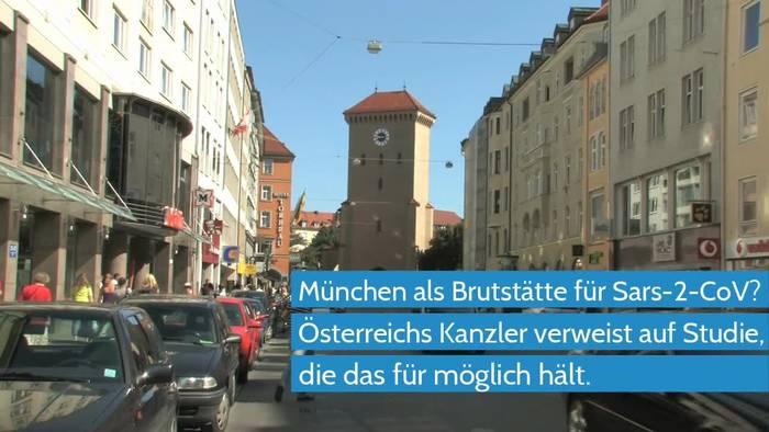 News video: Coronavirus - Kanzler Kurz erwähnt München als Brutstätte