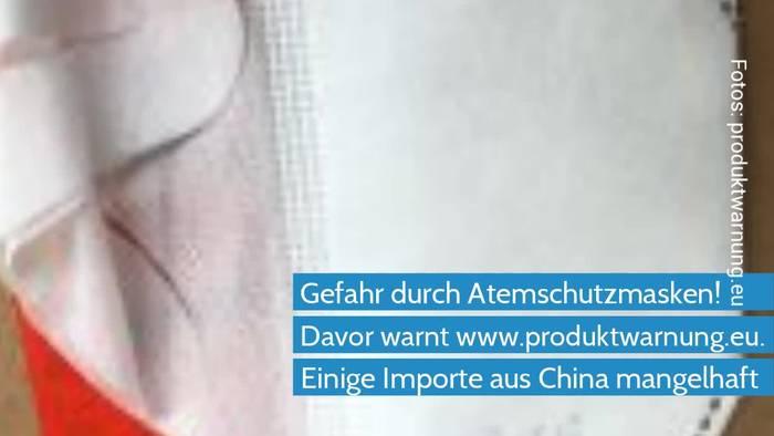 News video: Coronavirus - Rückruf gefährlicher Atemschutzmasken aus China
