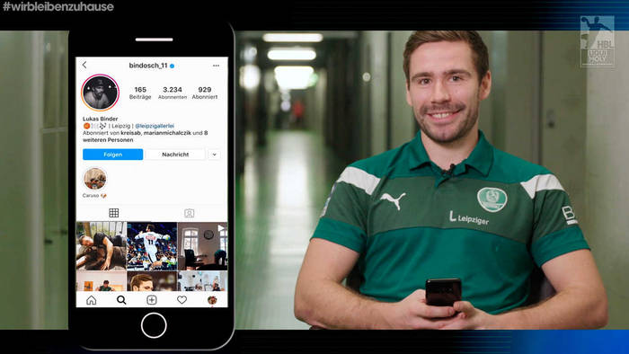 News video: Instacheck mit Lukas Binder: Warum sich der Leipziger Handballstar selbst zum Muttertag gratulierte