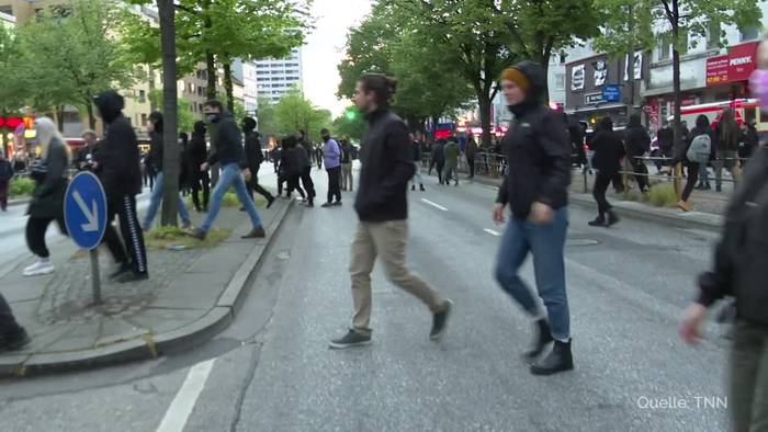 News video: Am 1. Mai unerlaubte Proteste in Berlin und Hamburg