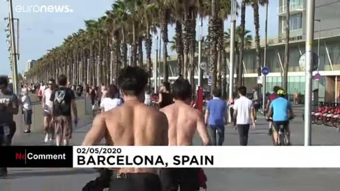 Video: Barcelona: Spazieren und Sport nach Altersklassen und in 1 km Umkreis