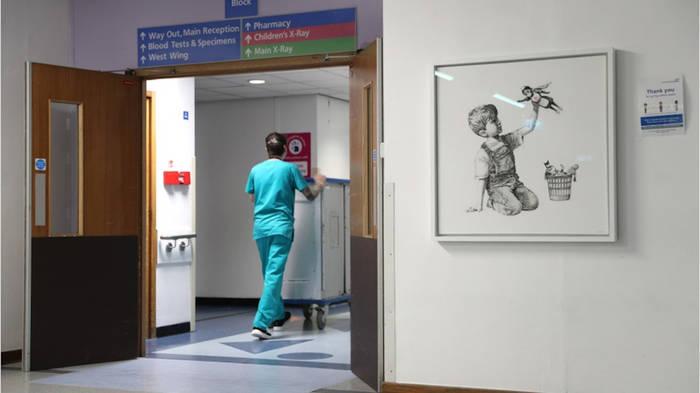 News video: Für die Krankenpfleger: Banksy begeistert mit neuem Kunstwerk