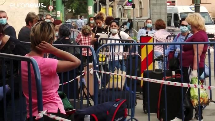 News video: 80 Betreuerinnen aus Rumänien erreichen Wien
