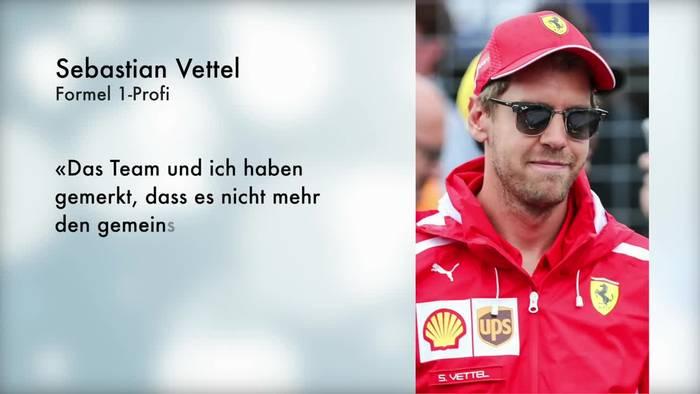 Video: Kein neuer Vertrag: Vettel verlässt Ferrari am Jahresende