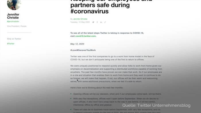News video: Twitter-Mitarbeiter dürfen «für immer» von Zuhause arbeiten