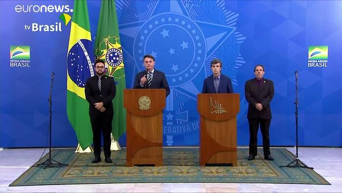 Video: Nach Streit mit Bolsonaro: Brasiliens Gesundheitsminister Teich geht