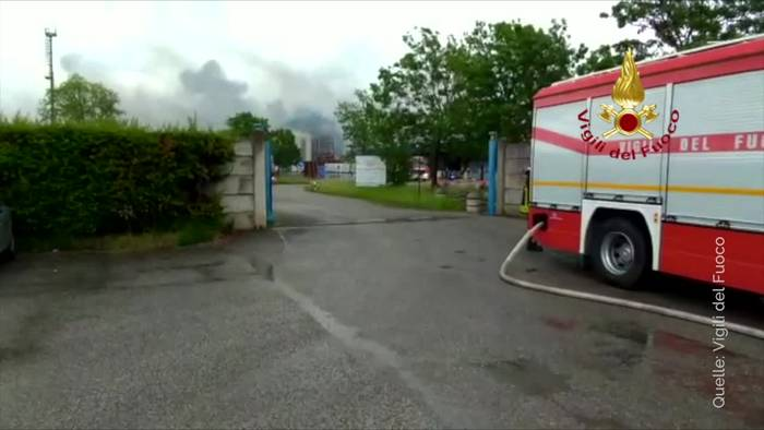 News video: Explosion in Chemiefabrik in Venedig
