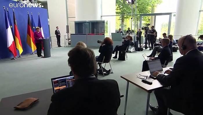 News video: Kraftanstrengung für Europa: Merkel und Macron und 500 Mrd Euro