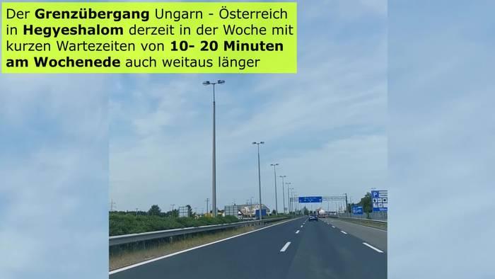 News video: Aktuelle Grenzsituation Ungarn - Österreich