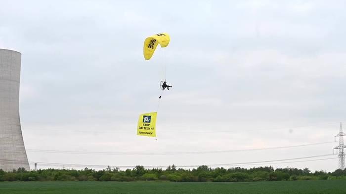 Video: Kohlekraftwerk Datteln 4: Protest aus der Luft