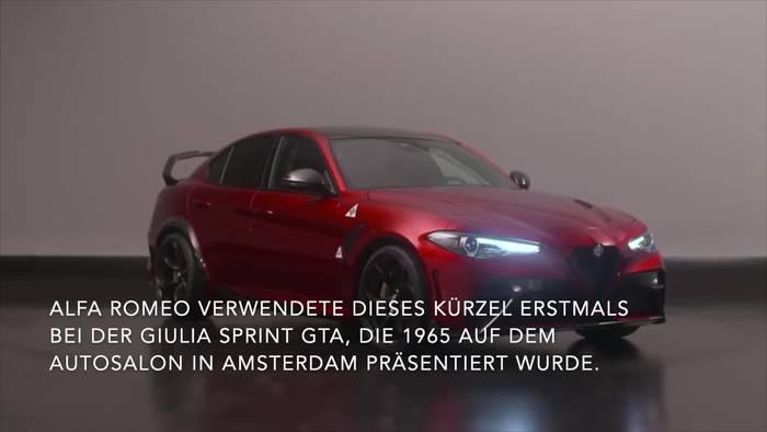 Video: Der neue Alfa Romeo Giulia GTA Highlights