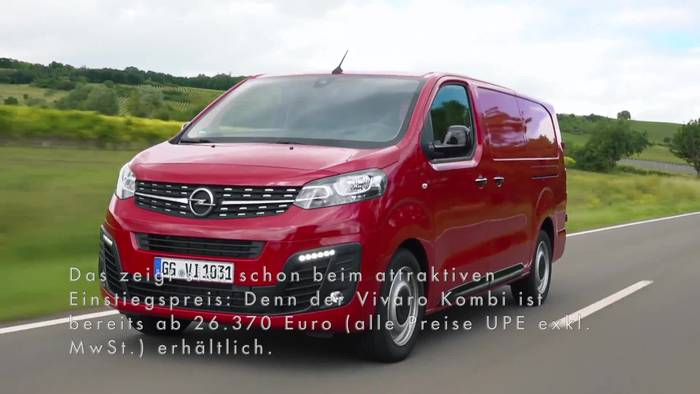 News video: Neuer Opel Vivaro Kombi - So schön kann Busfahren sein