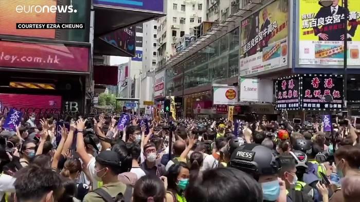 News video: Hongkong: Proteste flammen wieder auf