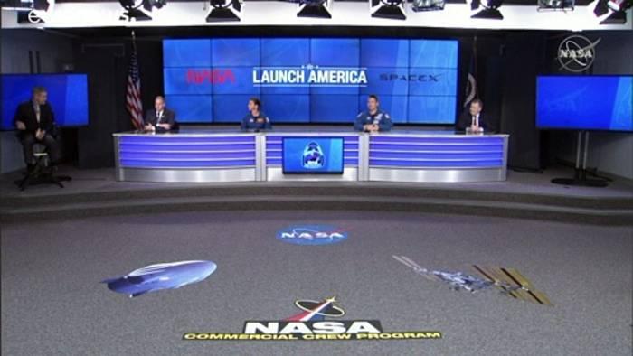 Video: SpaceX-Flug: US-Astronauten starten zur ISS