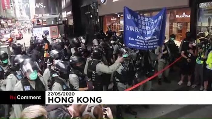 Video: Umstrittene Gesetze: neue Proteste in Hongkong