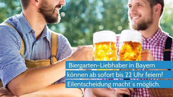 Video: Coronavirus - Bayerische Biergärten dürfen nach Eilentscheid länger öffnen