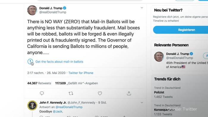 News video: Trump tritt Feldzug gegen Twitter und Co. los