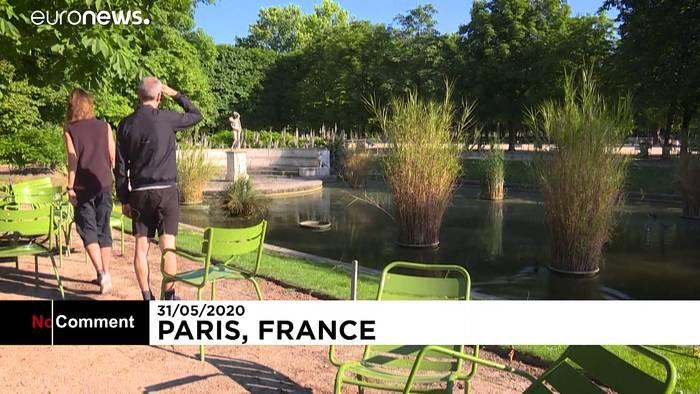 News video: Hotspot Paris: Parks jetzt wieder geöffnet - Spazieren mit 1 m Abstand