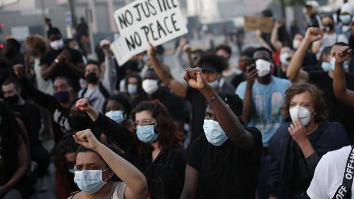 Video: Ausschreitungen und Festnahmen bei Black-Lives-Matter-Protesten