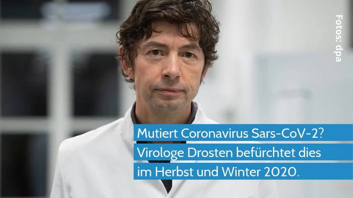 News video: Coronavirus - Virologe Drosten befürchtet Mutation