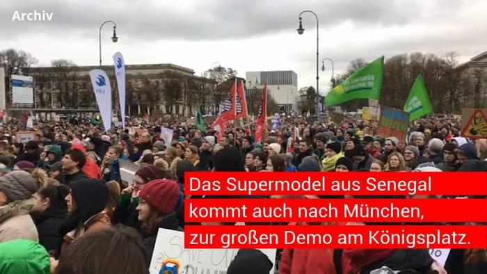 News video: George Floyd - Supermodel kommt zu Münchner Demo gegen Rassismus